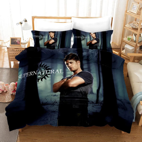 Supernatural Dean Sam Winchester #3 Duvet Cover Quilt Cover Pillowcase Bedding Set Bed Linen Home Decor