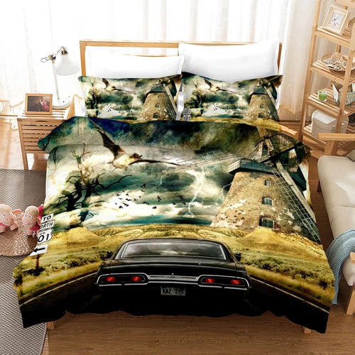 Supernatural Dean Sam Winchester #4 Duvet Cover Quilt Cover Pillowcase Bedding Set Bed Linen Home Decor