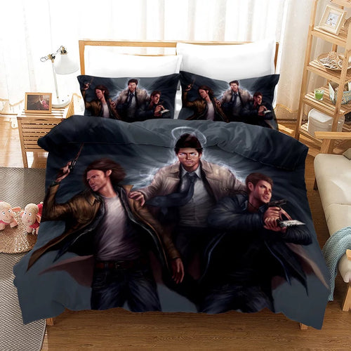 Supernatural Dean Sam Winchester #6 Duvet Cover Quilt Cover Pillowcase Bedding Set Bed Linen Home Decor