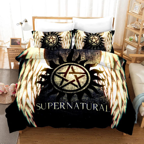 Supernatural Dean Sam Winchester #7 Duvet Cover Quilt Cover Pillowcase Bedding Set Bed Linen Home Decor