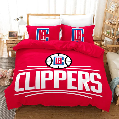 Basketball Los Angeles Clippers Basketball #11 Duvet Cover Quilt Cover Pillowcase Bedding Set Bed Linen Home Bedroom Decor