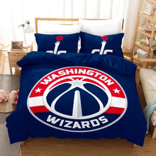 Load image into Gallery viewer, NBA Washington Wizards Basketball #16 Duvet Cover Quilt Cover Pillowcase Bedding Set Bed Linen Home Bedroom Decor
