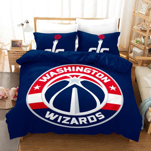 NBA Washington Wizards Basketball #16 Duvet Cover Quilt Cover Pillowcase Bedding Set Bed Linen Home Bedroom Decor