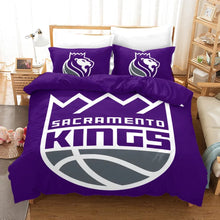 Load image into Gallery viewer, NBA Sacramento Kings Basketball #17 Duvet Cover Quilt Cover Pillowcase Bedding Set Bed Linen Home Bedroom Decor