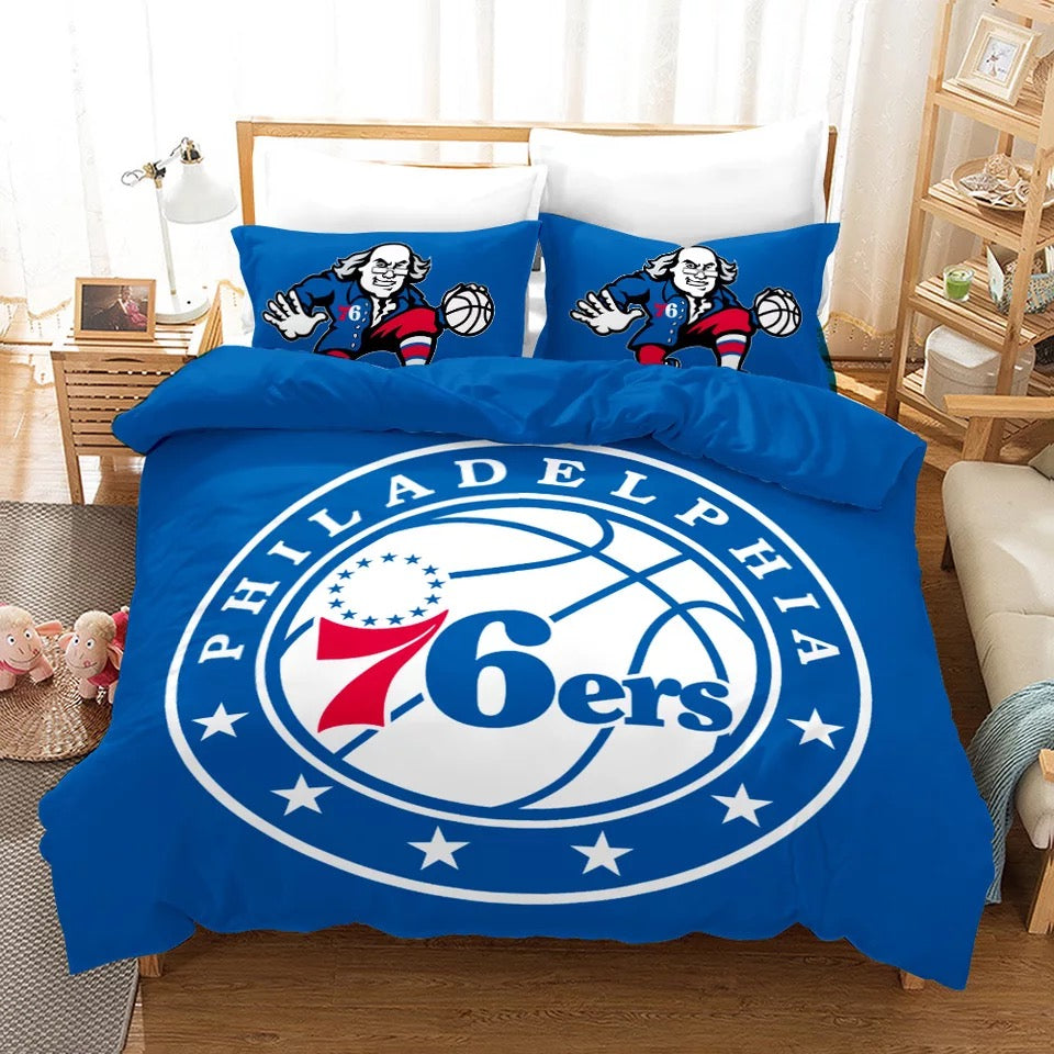 Basketball Philadelphia 76ers Basketball #19 Duvet Cover Quilt Cover Pillowcase Bedding Set Bed Linen Home Bedroom Decor