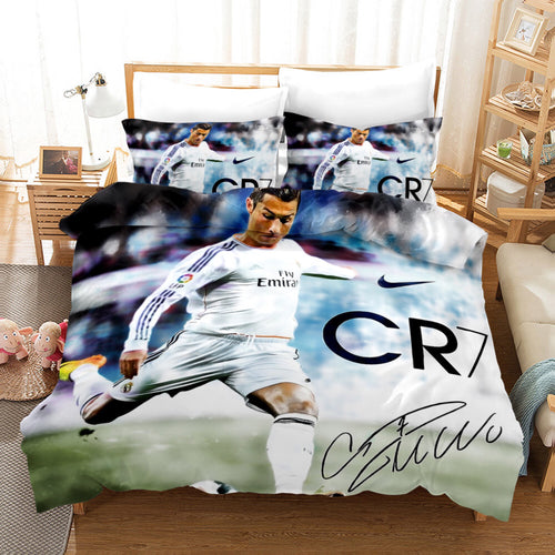 CR7 Ronaldo Juventus Forza Soccer #1 Duvet Cover Quilt Cover Pillowcase Bedding Set Bed Linen