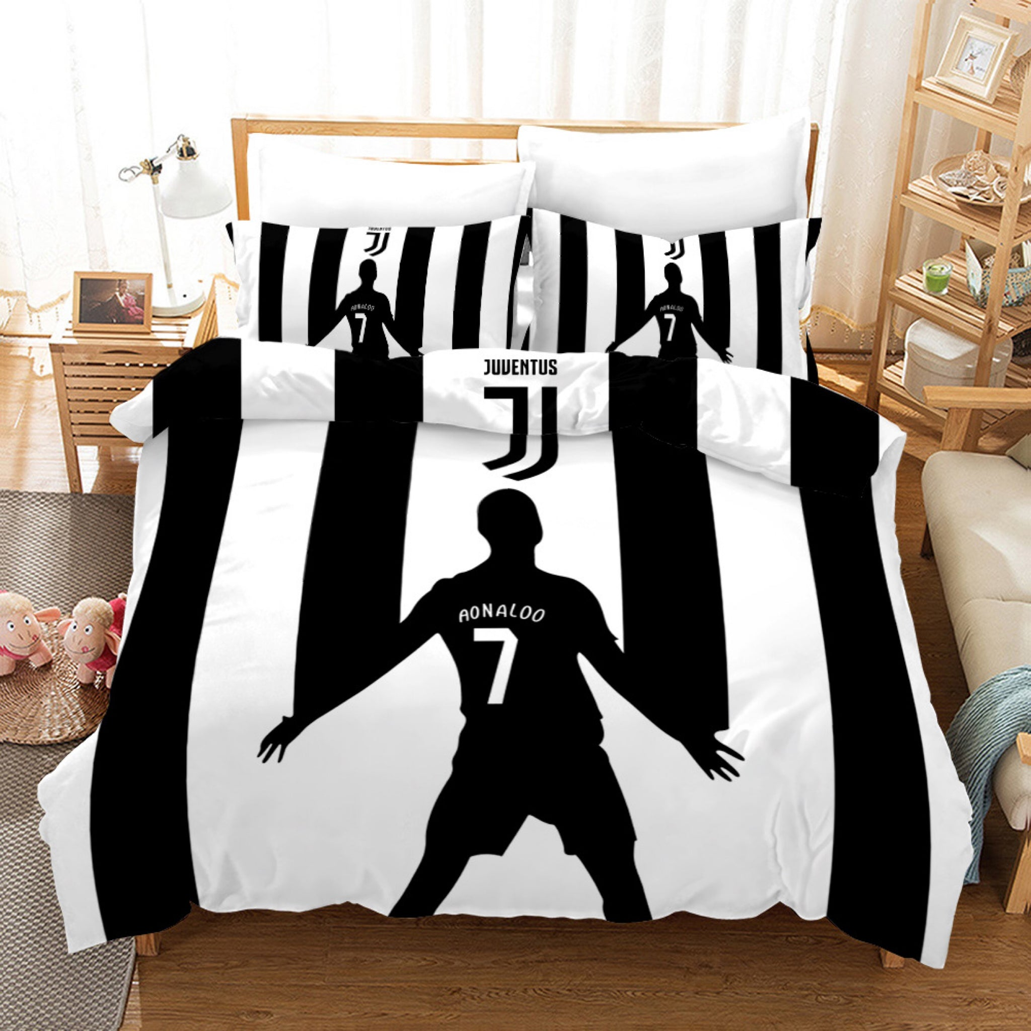 Cr7 Ronaldo Juventus Forza Soccer 5 Duvet Cover Quilt Cover Pillowcas Bedding Picky