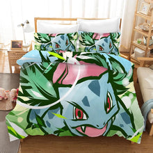 Load image into Gallery viewer, Pokemon Pikachu Venusaur #9 Duvet Cover Quilt Cover Pillowcase Bedding Set Bed Linen Home Bedroom Decor