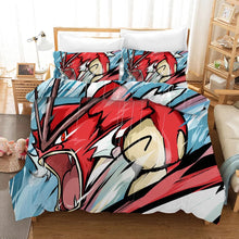Load image into Gallery viewer, Pokemon Pikachu Gyarados #16 Duvet Cover Quilt Cover Pillowcase Bedding Set Bed Linen Home Bedroom Decor
