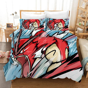 Pokemon Pikachu Gyarados #16 Duvet Cover Quilt Cover Pillowcase Bedding Set Bed Linen Home Bedroom Decor