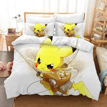 Load image into Gallery viewer, Pokemon Pikachu #4 Duvet Cover Quilt Cover Pillowcase Bedding Set Bed Linen Home Bedroom Decor