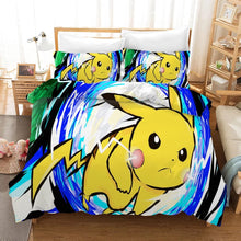 Load image into Gallery viewer, Pokemon Pikachu #5 Duvet Cover Quilt Cover Pillowcase Bedding Set Bed Linen Home Bedroom Decor