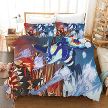 Load image into Gallery viewer, Pokemon Pikachu Groudon vs Kyogre #30 Duvet Cover Quilt Cover Pillowcase Bedding Set Bed Linen Home Bedroom Decor