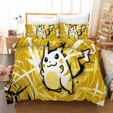 Load image into Gallery viewer, Pokemon Pikachu #6 Duvet Cover Quilt Cover Pillowcase Bedding Set Bed Linen Home Bedroom Decor