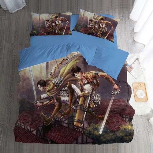 Attack on Titan #3 Duvet Cover Quilt Cover Pillowcase Bedding Set Bed Linen Home Bedroom Decor