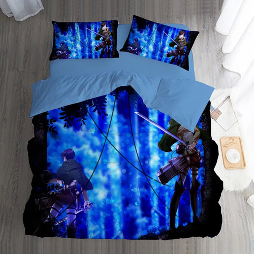 Attack on Titan #4 Duvet Cover Quilt Cover Pillowcase Bedding Set Bed Linen Home Bedroom Decor