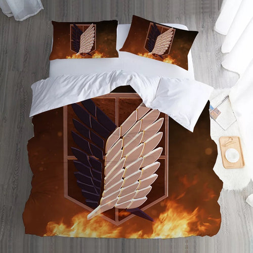 Attack on Titan #5 Duvet Cover Quilt Cover Pillowcase Bedding Set Bed Linen Home Bedroom Decor