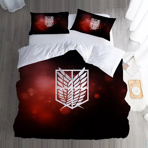 Attack on Titan #6 Duvet Cover Quilt Cover Pillowcase Bedding Set Bed Linen Home Bedroom Decor