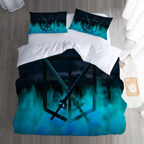 Attack on Titan #7 Duvet Cover Quilt Cover Pillowcase Bedding Set Bed Linen Home Bedroom Decor