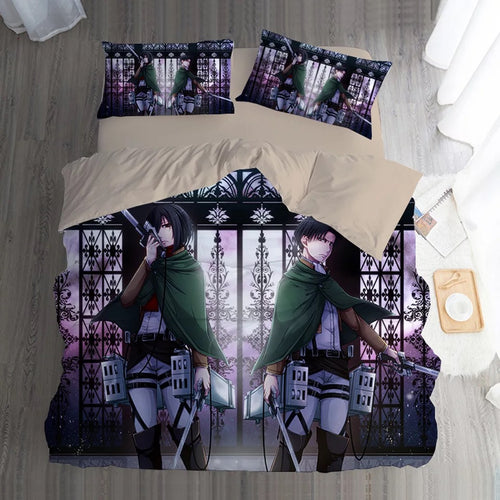 Attack on Titan #11 Duvet Cover Quilt Cover Pillowcase Bedding Set Bed Linen Home Bedroom Decor