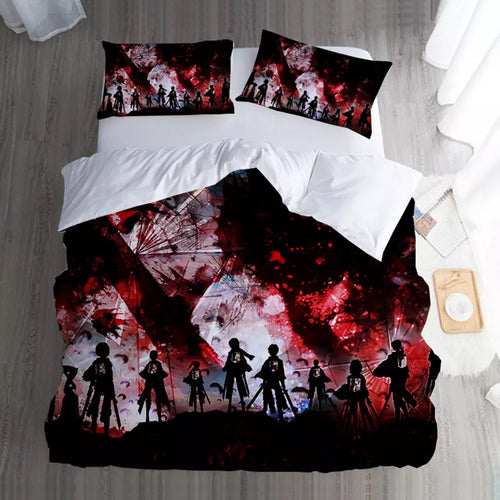 Attack on Titan #12 Duvet Cover Quilt Cover Pillowcase Bedding Set Bed Linen Home Bedroom Decor
