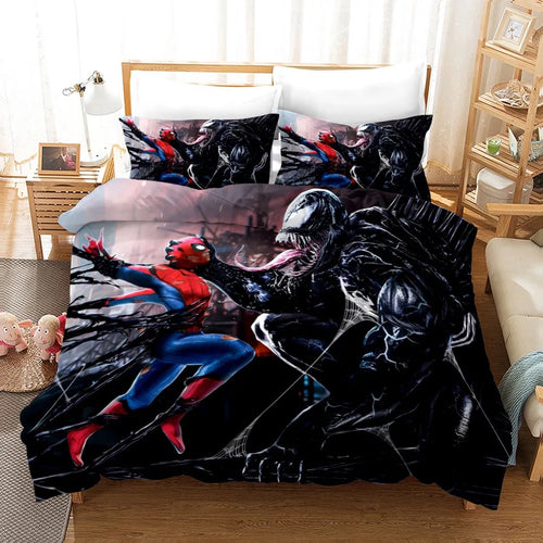 Venom Spiderman #3 Duvet Cover Quilt Cover Pillowcase Bedding Set Bed Linen Home Decor