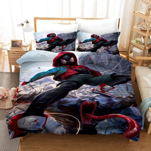 Venom Spiderman Miles Morales #15 Duvet Cover Quilt Cover Pillowcase Bedding Set Bed Linen Home Decor