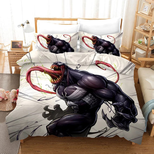 Venom Spiderman #16 Duvet Cover Quilt Cover Pillowcase Bedding Set Bed Linen Home Decor