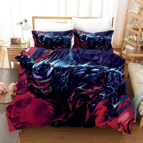 Venom Spiderman #17 Duvet Cover Quilt Cover Pillowcase Bedding Set Bed Linen Home Decor