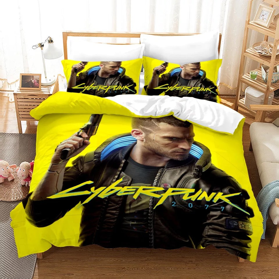 Cyberpunk 2077 #1 Duvet Cover Quilt Cover Pillowcase Bedding Set Bed Linen Home Bedroom Decor