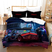 Load image into Gallery viewer, Cyberpunk 2077 #2 Duvet Cover Quilt Cover Pillowcase Bedding Set Bed Linen Home Bedroom Decor
