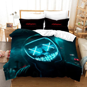 Cyberpunk 2077 #3 Duvet Cover Quilt Cover Pillowcase Bedding Set Bed Linen Home Bedroom Decor