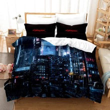 Load image into Gallery viewer, Cyberpunk 2077 #4 Duvet Cover Quilt Cover Pillowcase Bedding Set Bed Linen Home Bedroom Decor