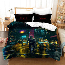 Load image into Gallery viewer, Cyberpunk 2077 #5 Duvet Cover Quilt Cover Pillowcase Bedding Set Bed Linen Home Bedroom Decor