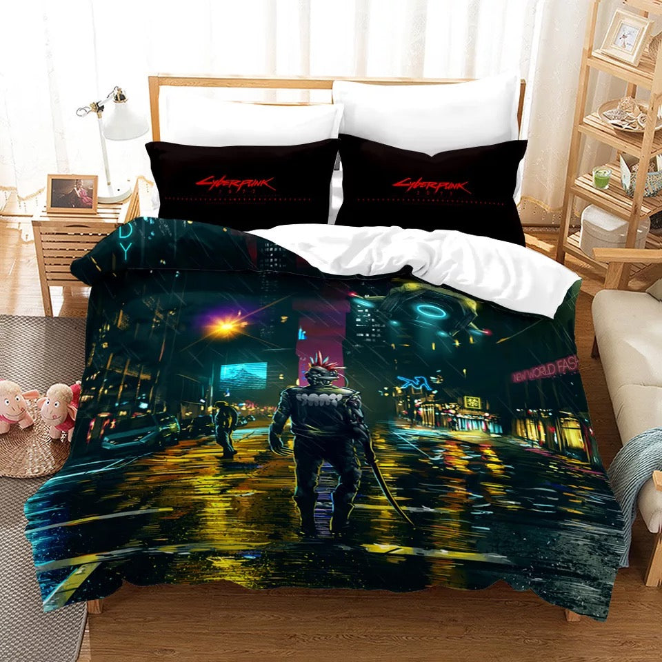 Cyberpunk 2077 #5 Duvet Cover Quilt Cover Pillowcase Bedding Set Bed Linen Home Bedroom Decor