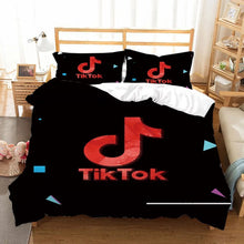 Load image into Gallery viewer, Tik Tok #15 Duvet Cover Quilt Cover Pillowcase Bedding Set Bed Linen Home Bedroom Decor