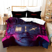 Load image into Gallery viewer, Cyberpunk 2077 #8 Duvet Cover Quilt Cover Pillowcase Bedding Set Bed Linen Home Bedroom Decor