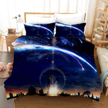 Load image into Gallery viewer, Your Name Kimi no na wa Makoto Shinkai #5 Duvet Cover Quilt Cover Pillowcase Bedding Set Bed Linen Home Bedroom Decor