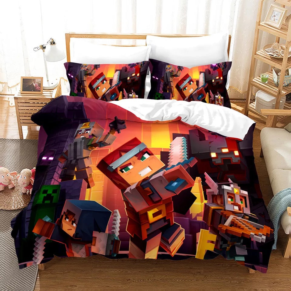 Minecraft #3 Duvet Cover Quilt Cover Pillowcase Bedding Set Bed Linen Home Bedroom Decor