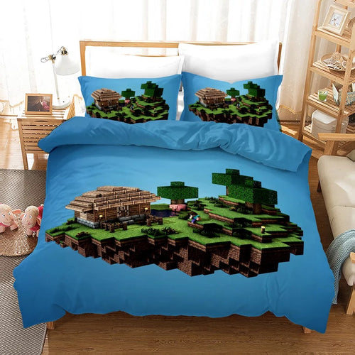 Minecraft #5 Duvet Cover Quilt Cover Pillowcase Bedding Set Bed Linen Home Bedroom Decor