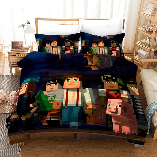 Minecraft #7 Duvet Cover Quilt Cover Pillowcase Bedding Set Bed Linen Home Bedroom Decor