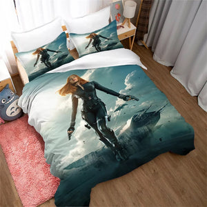 Black Widow Natasha Romanoff #9 Duvet Cover Quilt Cover Pillowcase Bedding Set Bed Linen Home Decor