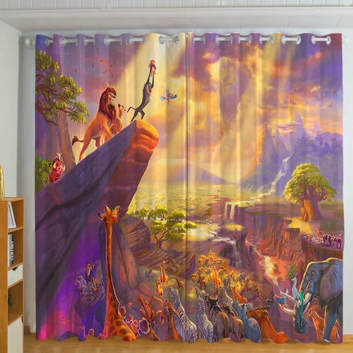 The Lion King Simba #1 Blackout Curtains For Window Treatment Set For Living Room Bedroom