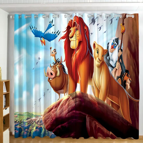 The Lion King Simba #2 Blackout Curtains For Window Treatment Set For Living Room Bedroom