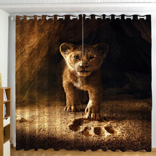The Lion King Simba #5 Blackout Curtains For Window Treatment Set For Living Room Bedroom