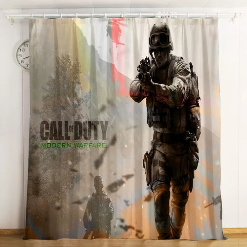 Call Of Duty #4 Blackout Curtains For Window Treatment Set For Living Room Bedroom