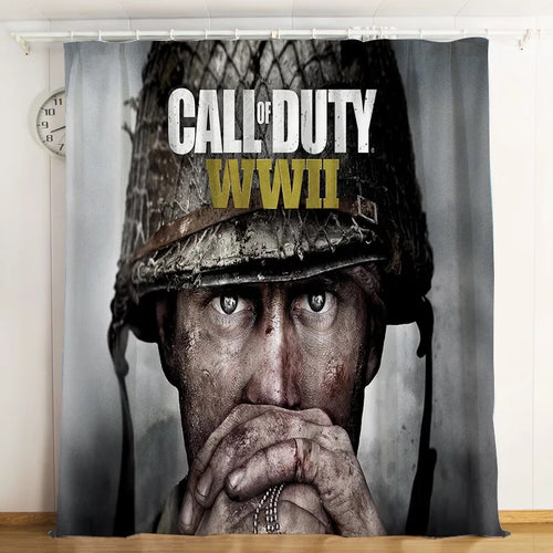 Call Of Duty #7 Blackout Curtains For Window Treatment Set For Living Room Bedroom