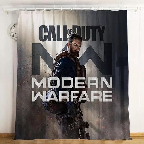Call Of Duty #9 Blackout Curtains For Window Treatment Set For Living Room Bedroom