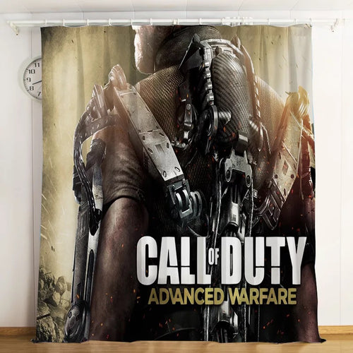 Call Of Duty #10 Blackout Curtains For Window Treatment Set For Living Room Bedroom