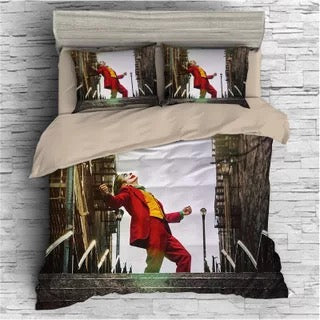 2019 Joker Arthur Fleck Clown #14 Duvet Cover Quilt Cover Pillowcase Bedding Set Bed Linen Home Bedroom Decor